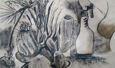Jardin de Atelier 88, finished 1st Proof of the plywood litho - £300