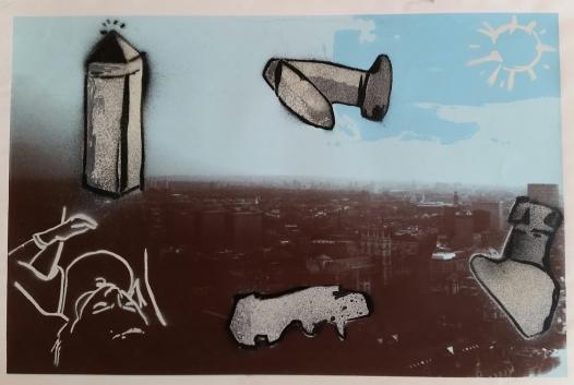 City, Silkscreen & Stencil 2008