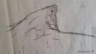 Cork Monoprint (cliff, Skibbereen) 1998