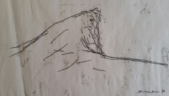 Cork Monoprint (cliff, Skibbereen) 1998