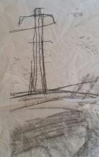 Cork Monoprint (Pylon) 1998
