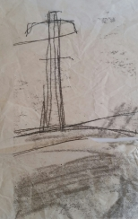 Cork Monoprint (Pylon) 1998