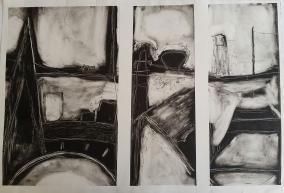 Cork Monoprint (Triptych) 1998