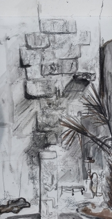 Drawing from Atelier 88 Courtyard
