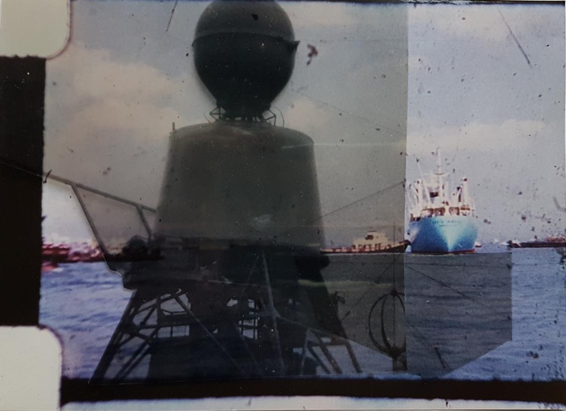 Untitled, Super8 film still, Lith transparency & digital drawing