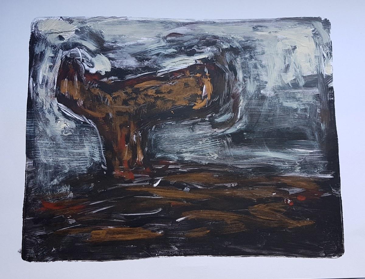 Angul of da Norf, Monoprint, 2019. £40