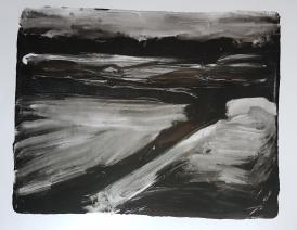 Empty Landscape I, Monoprint, 2019. in progress