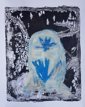 Locked, Monoprint, 2019, £30