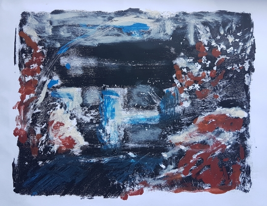 An Old Home, Monoprint, 2019, £30