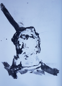Selfie I, Monoprint, 2019, £30
