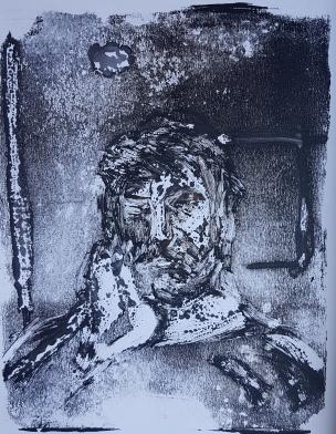 Selfie II, Monoprint, 2019, £30