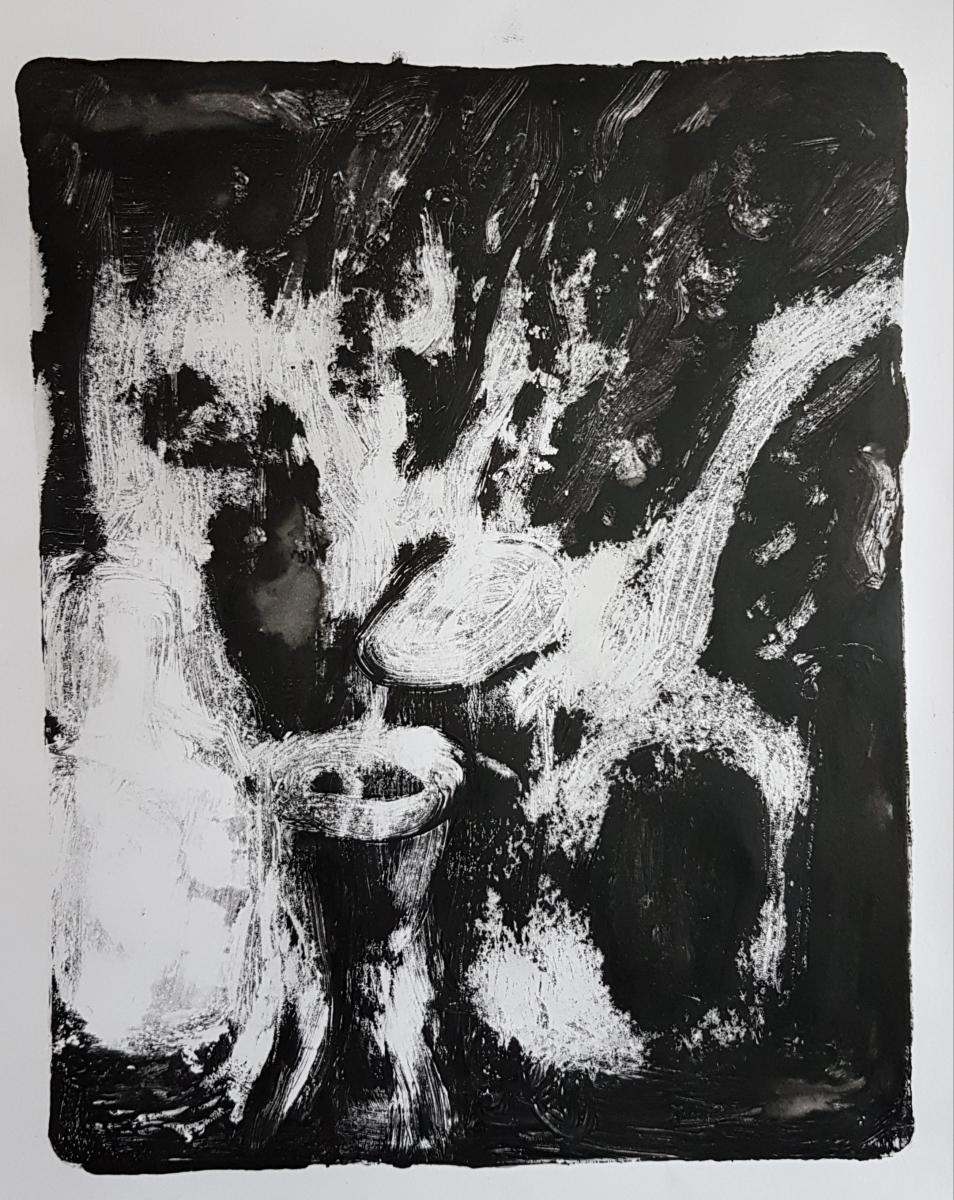 Still Life, Monoprint, 2019, £30