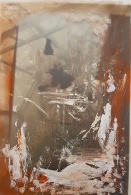 Untitled, photo & acrylic