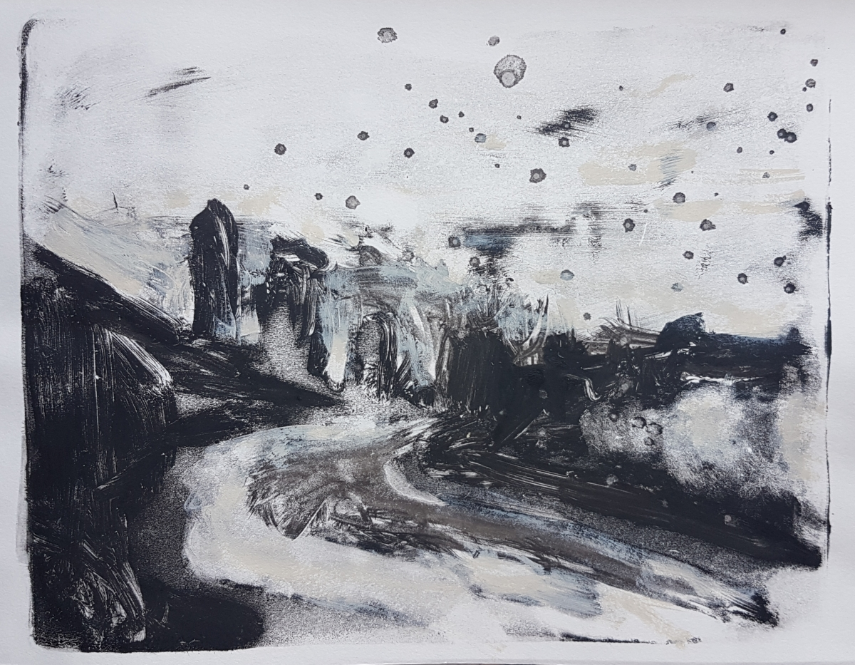 Up Shit Creek Again, Monoprint, 2019. £40